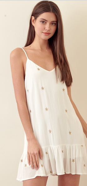 Storia Embroidered Star Dress