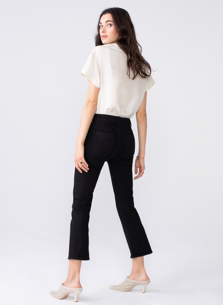 Unpublished Mid-Rise 'Margaux Crop Demi Flare'