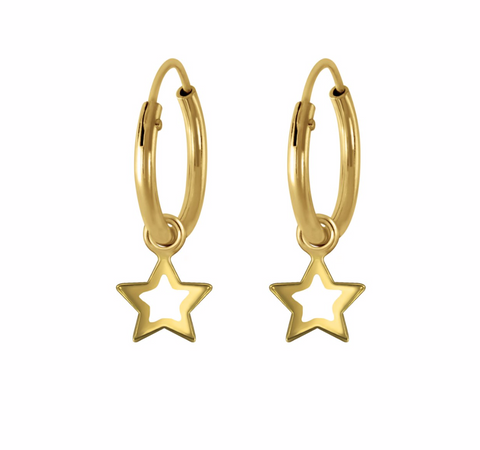 Mini Open Star Hoops