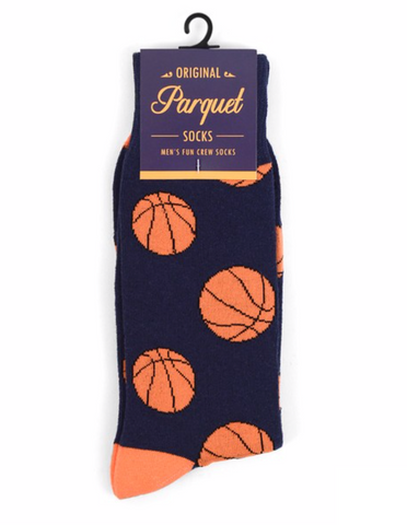 Orange & Blue Basketball Socks