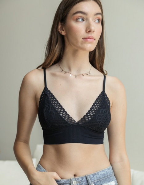 Lace Bralette with Seamless Band
