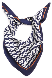 Orange & Blue Printed Scarf