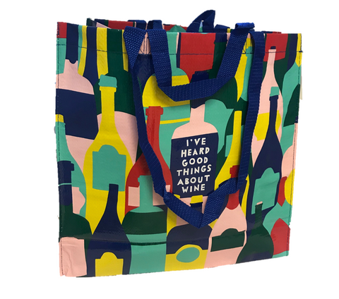 "Blue Q ""I've Heard Good Things About Wine"" Tote"