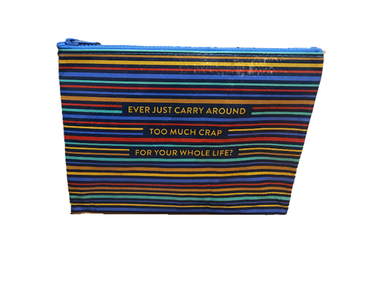 "Blue Q ""Too Much Crap"" Zipper Pouch"