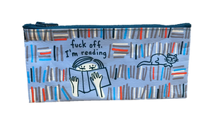 "Blue Q ""F Off, I'm Reading"" Pencil Case"