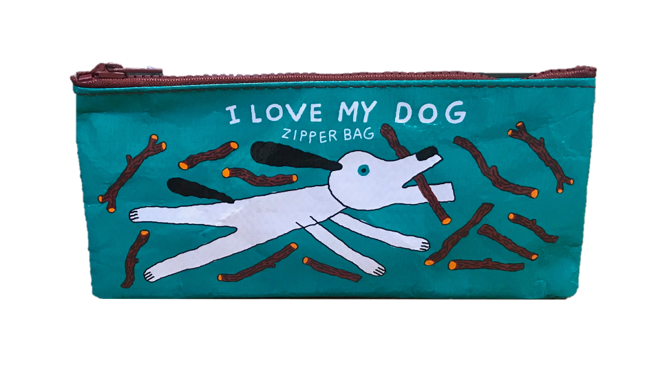 "Blue Q ""I Love My Dog"" Pencil Case"