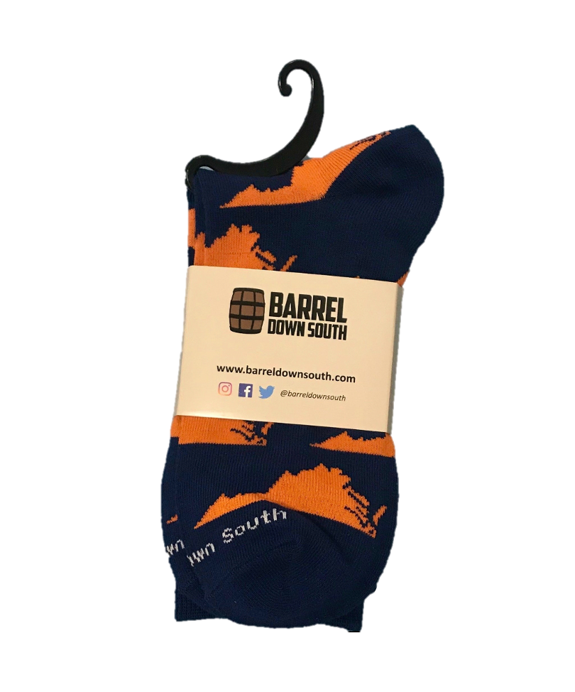 Men's Orange & Blue Virginia Socks