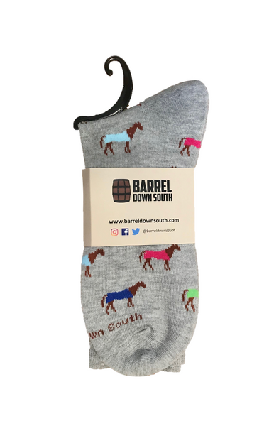 Men's Multicolor Horse Socks