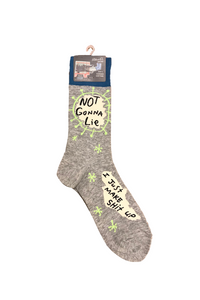 "Men's ""Not Gonna Lie..."" Socks"