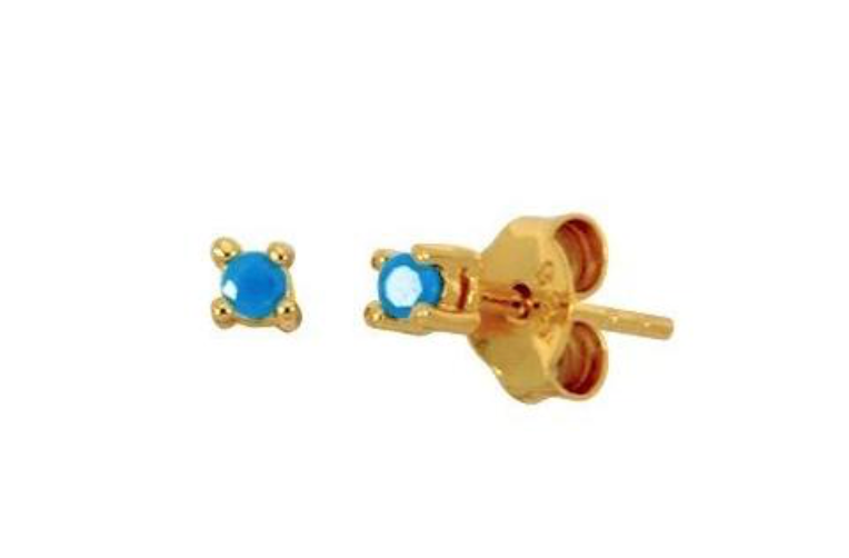 Mini Turquoise Stud Earrings