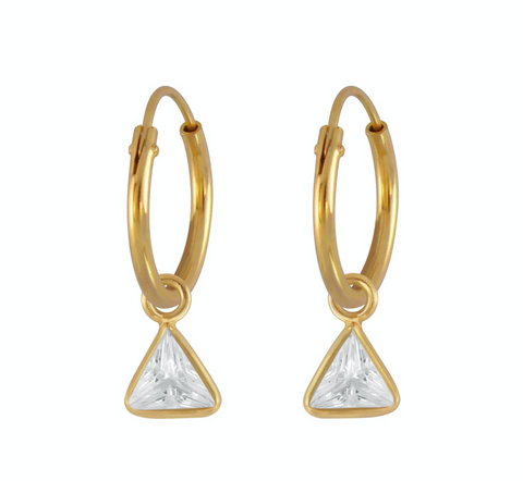 Sparkly Triangle Endless Hoops