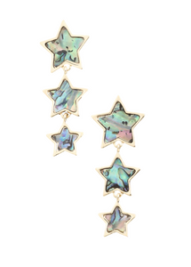Triple Star Drop Earrings