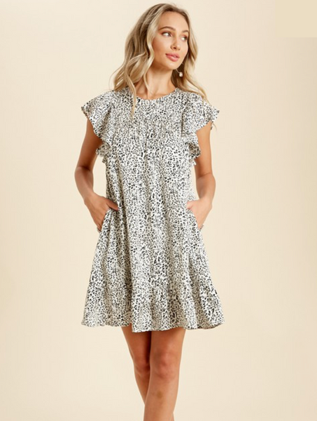 Leopard Sateen Dress