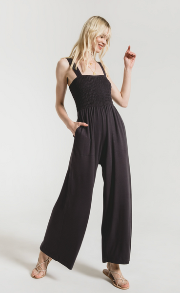 Z Supply Smocked Knit Jumpsuit