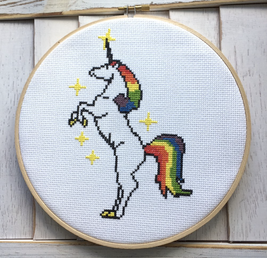 Unicorn Counted Cross-Stitch Kit
