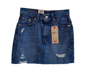 Levi's High Rise Deconstructed Denim Skirt