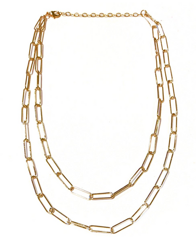 Double-Layer Paper Clip Necklace
