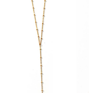 Ball Chain Lariat Necklace
