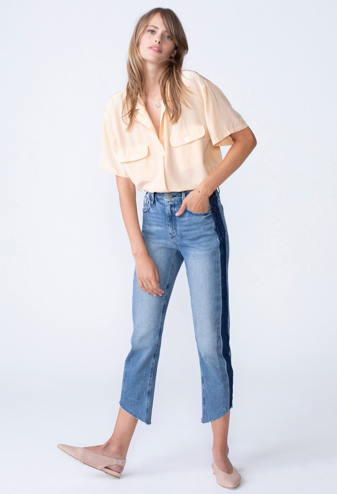 Unpublished 'Heather' Mom Jeans with Side Stripe