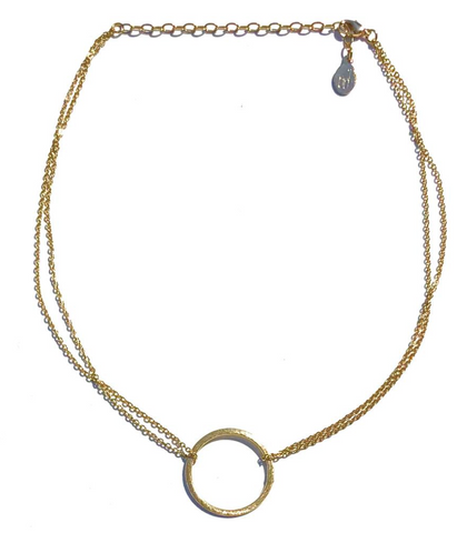 Double-Chain Circle Necklace