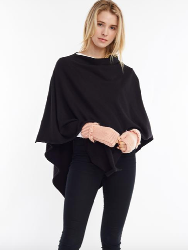 Look By M Classic Triangle Poncho