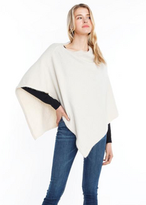 Look by M Cashmere Blend Poncho