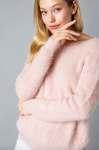 Mohair Knotted Back Sweater