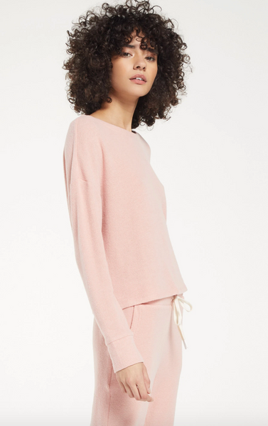 Z Supply 'Leila' Ribbed Long-Sleeve Top