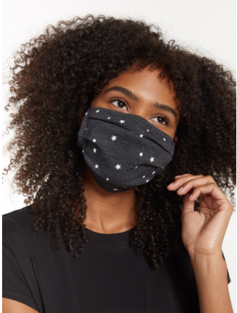 Z Supply Adult Reusable Face Mask Black Stars