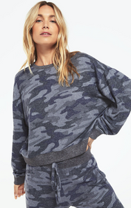 Z Supply 'Noa' Camo Marled Pullover