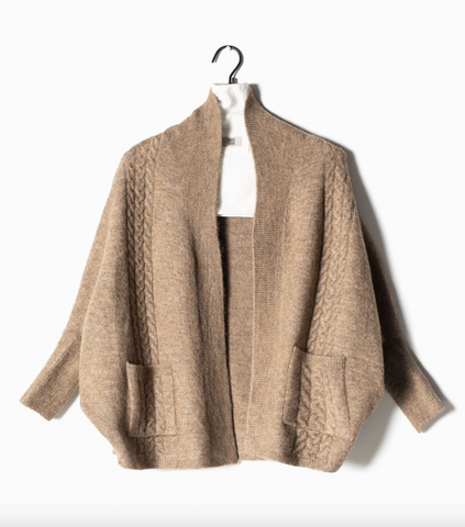 Look by M Cable Cape Cardigan