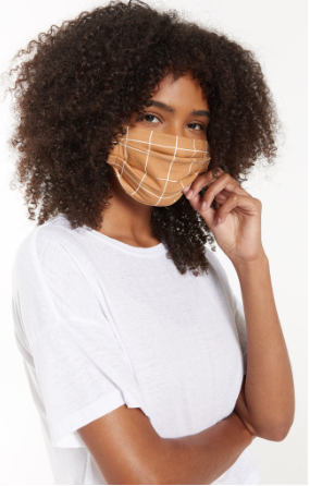 Z Supply Adult Reusable Face Mask Tan Pattern