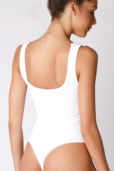 Ribbed Scoopneck Bodysuit