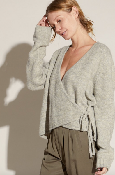 Wool Blend Wrap Sweater