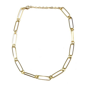 Oval & Circle Link Chain Choker