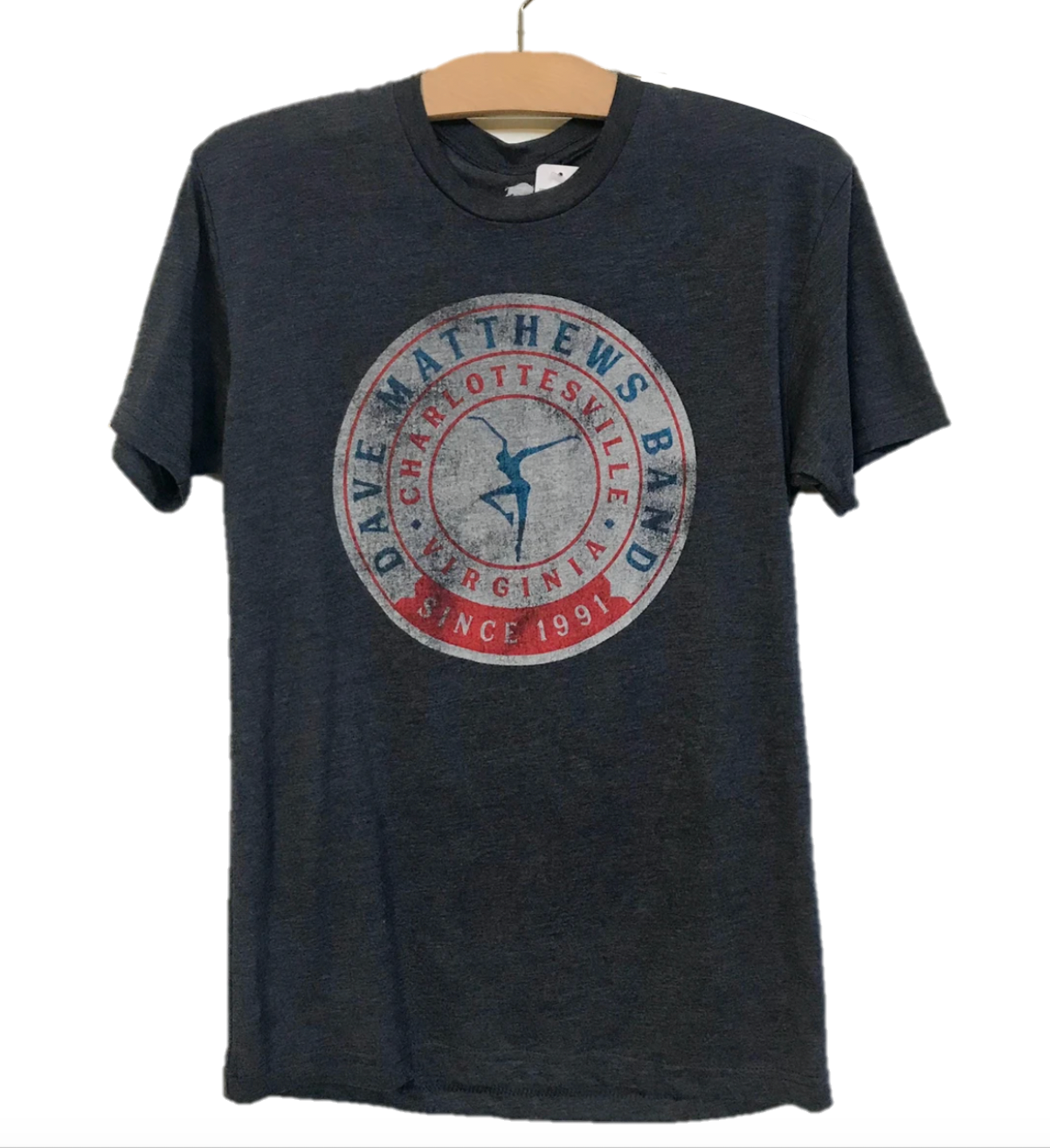Heather Navy & Red DMB Tee