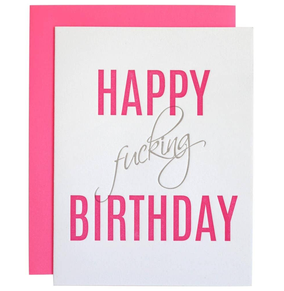 """Happy F'ing Birthday"" Card"