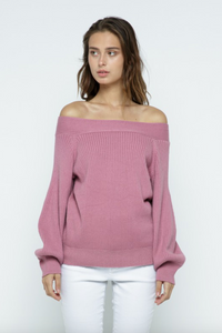 Off-the-Shoulder Sweater