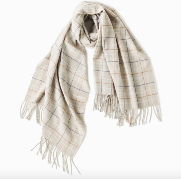 Look by M Windowpane Scarf