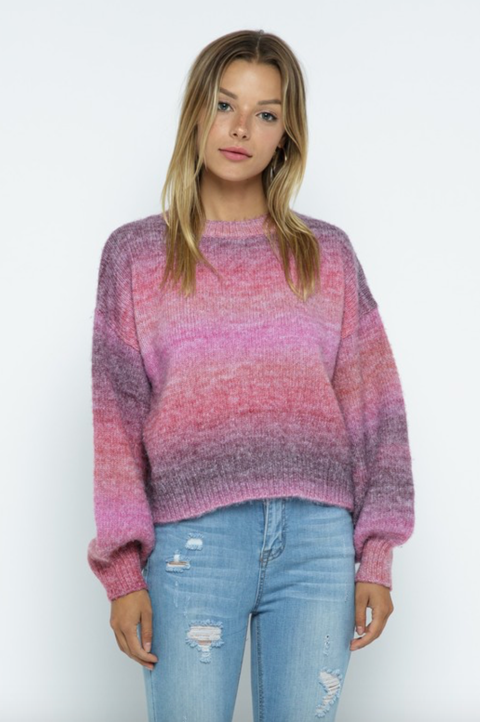 Ombre Stripe Sweater