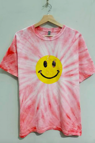 Tie Dye Smiley Face Tee