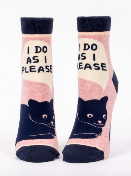 'I Do As I Please' Ankle Socks
