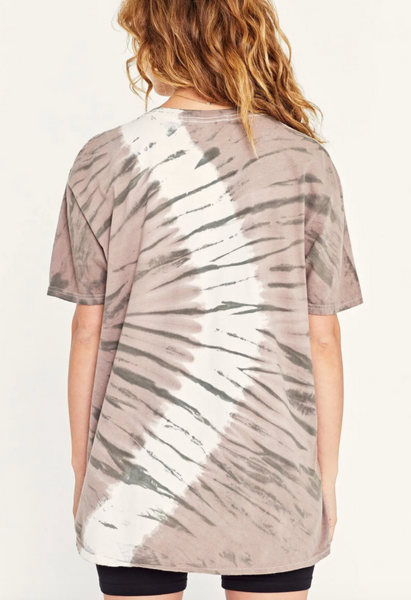 Project Social T Oversized Tie Dye Tiger Tee