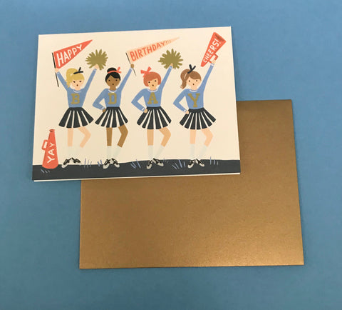 Cheerleader Birthday Card