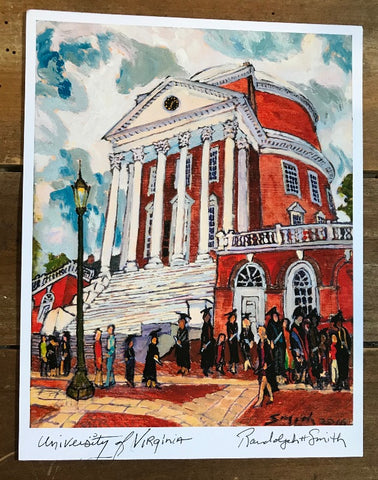 UVA Rotunda Graduation Print by Randy Smith