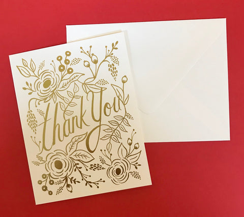 Gold Foil Thank You Card