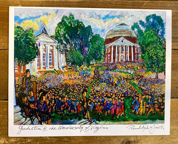 UVA Graduation Print by Randy Smith