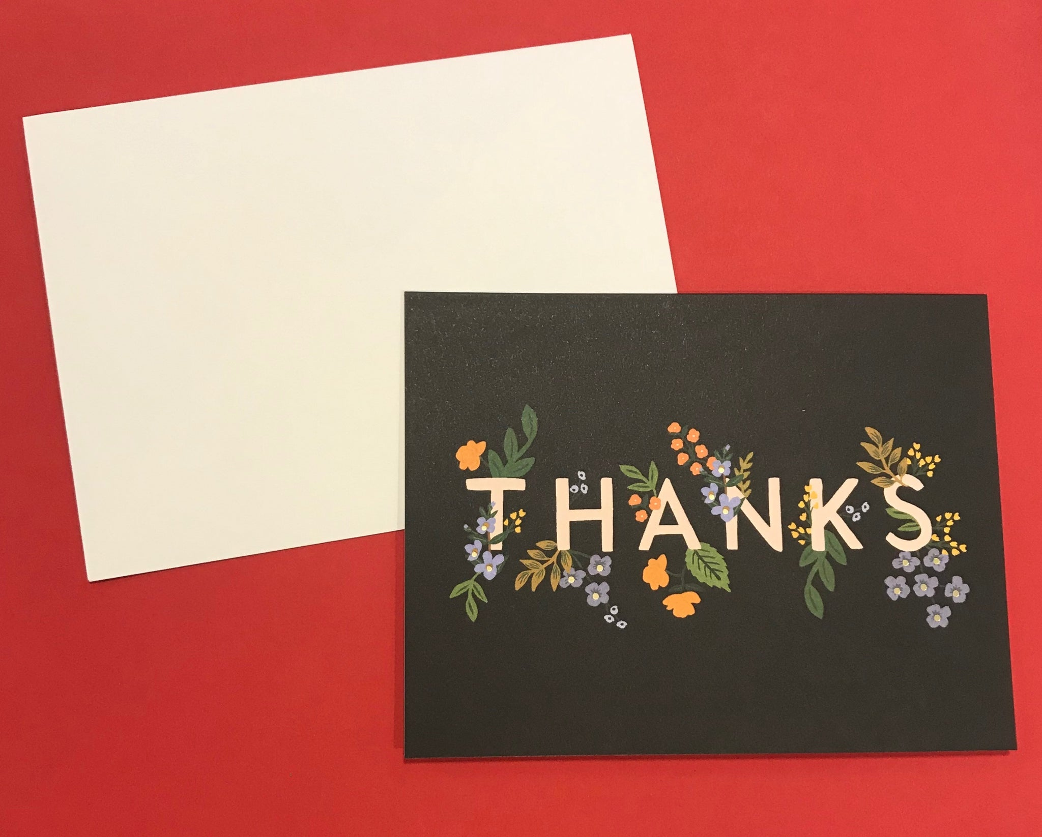 Floral 'Thanks' Card
