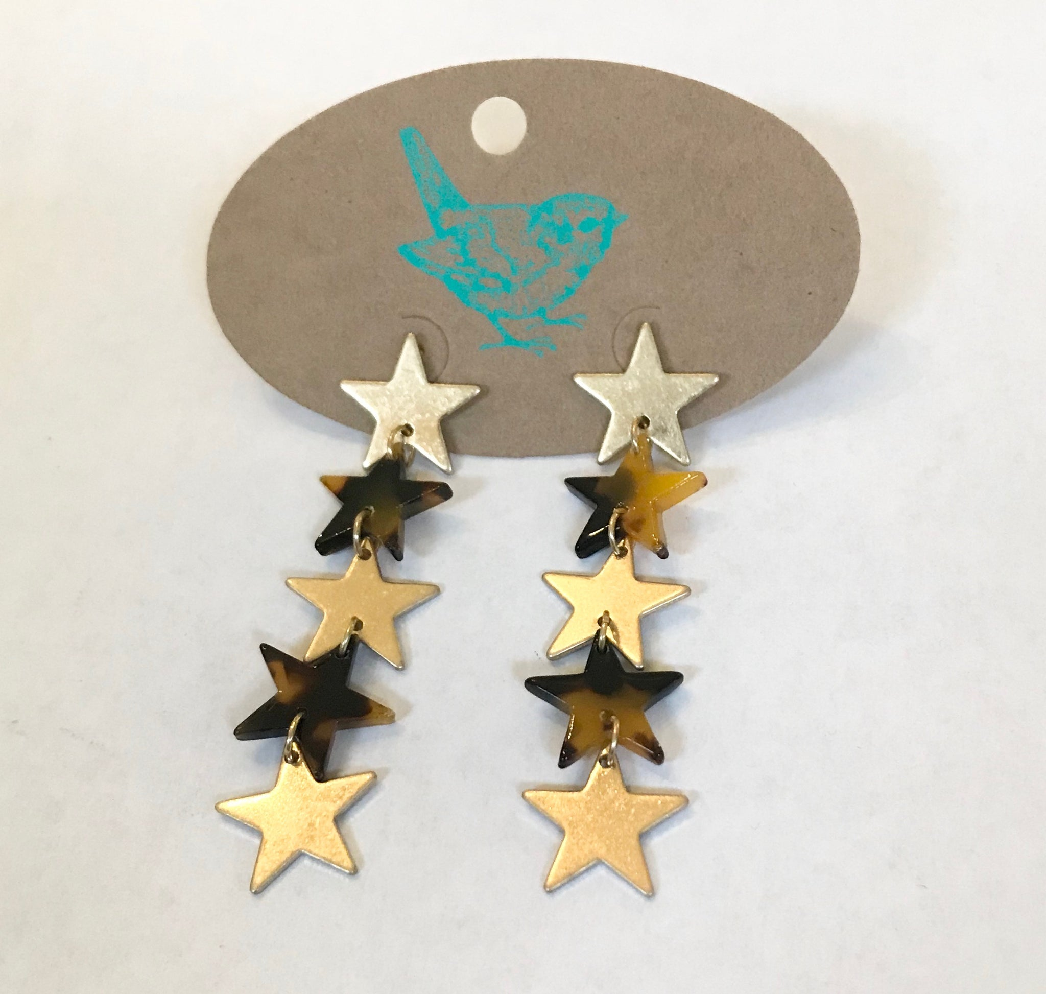 Acrylic Star Drop Earrings