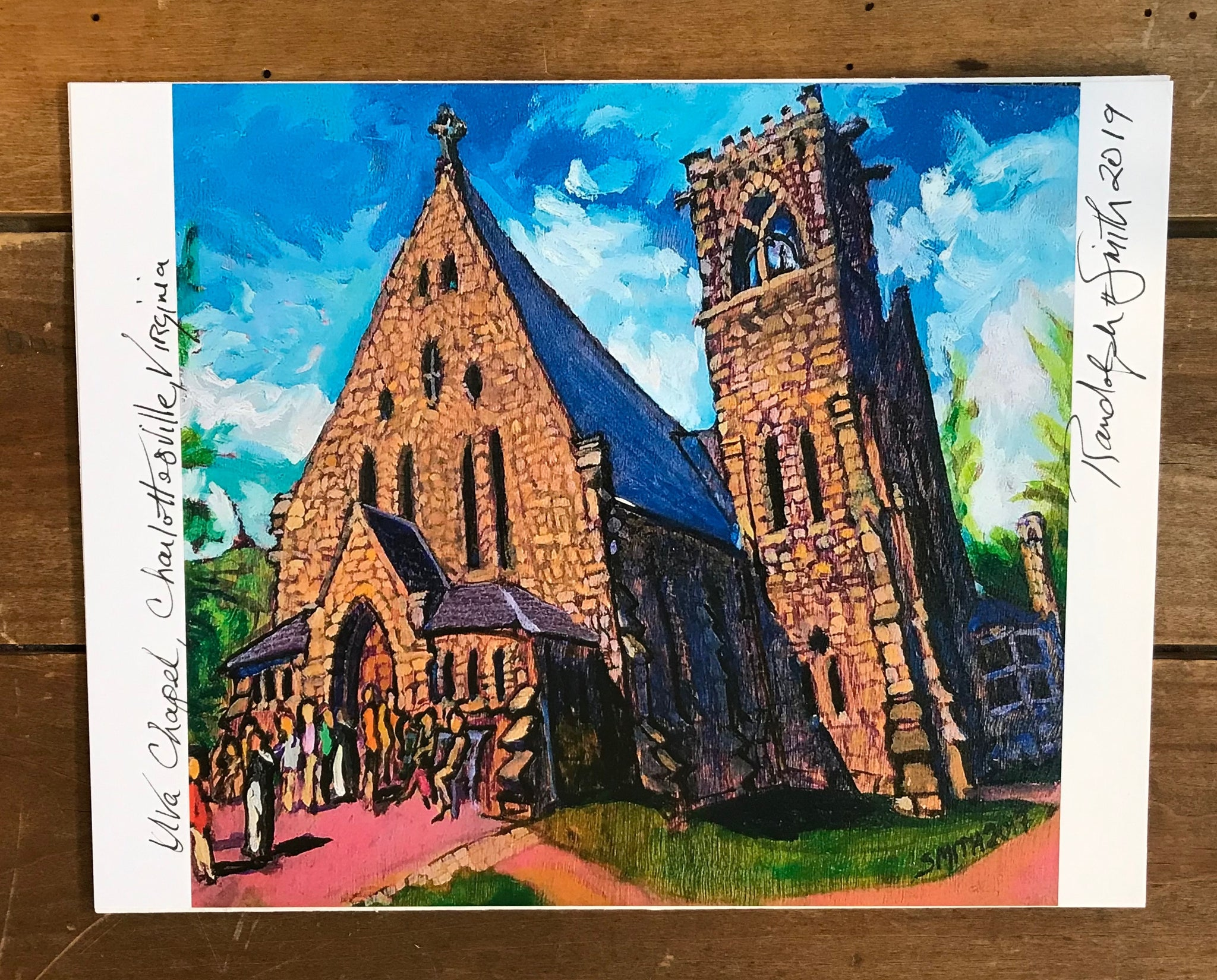 UVA Chapel Print by Randy Smith